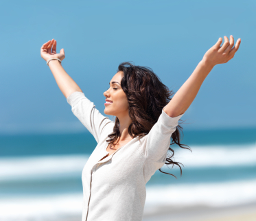Hypnotherapy helps you to feel relaxed